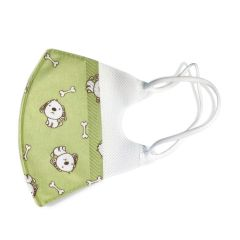Kids mask - Green with dogs