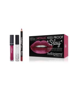 Kiss Proof Metallic Slay Kit - Rosy Pink